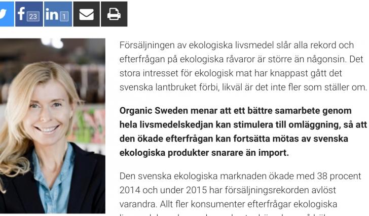 Organic Sweden: Från lågpris till prisvärdhet
